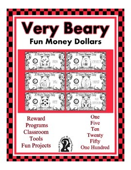 Bear Fun Money Dollars - Teach Money, Use for Rewards, Sup