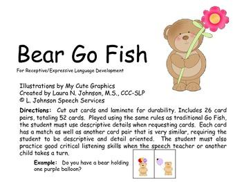 Bear Go Fish for Expressive Language Development
