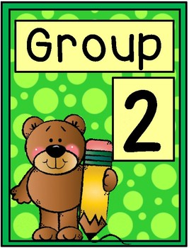 Bear Group Signs - Table Group Signs
