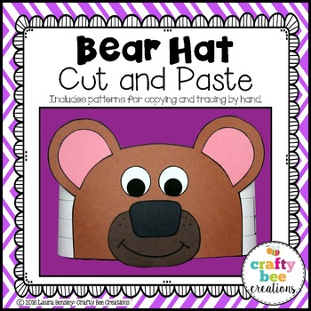 Bear Hat Cut and Paste