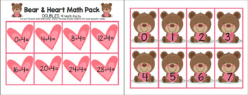 Bear & Heart Multiplication and Division by FOUR Math Facts