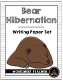 Bear Hibernation Writing Paper Set