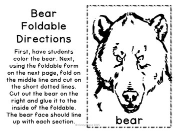 Bear Hunt Foldable