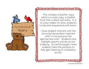 Bear Interactive/Emergent Reader