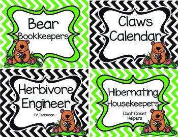 Bear Job Chart