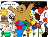 Bear Loves Color Clipart Pack