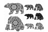 Bear Mandala SVG, Mama and Baby Bear Mandala SVG files