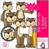 Bear Mascot clip art - Mini - by Melonheadz Clipart