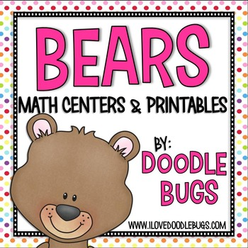 Bear Math Centers & Print and Go Printables