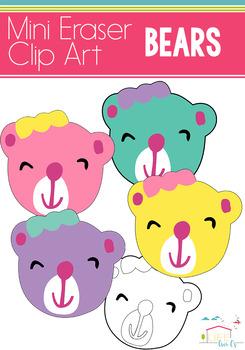 Bear Mini Eraser Clip Art