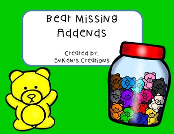 Bear Missing Addends
