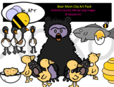 Bear Mom Clip Art Pack