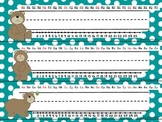 Name Plates - Desk Tags - Bear