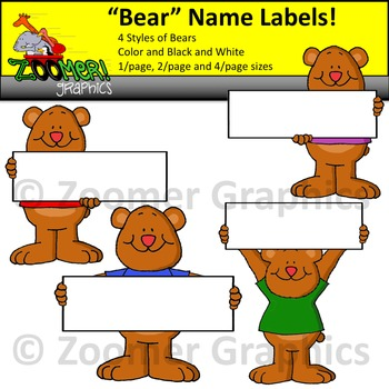 Bear Name Tags and Labels
