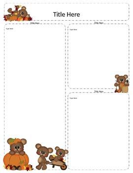 Bear Newsletter Template - Set of 11