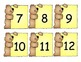 Bear Number Cards/Calendar Cards