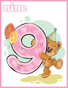 Bear Numbers Flash Cards (0-9)