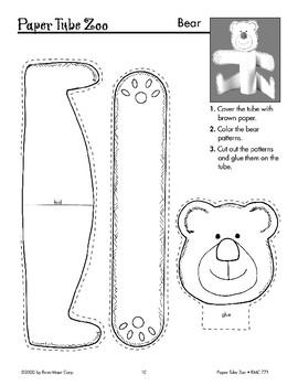 Bear Paper Tube Animals