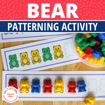 patterning activities for preschool and kindergarten bear patterns activity. Black Bedroom Furniture Sets. Home Design Ideas