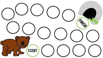 Bear Paw Articulation Activity