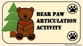 Bear Paw Articulation Activity