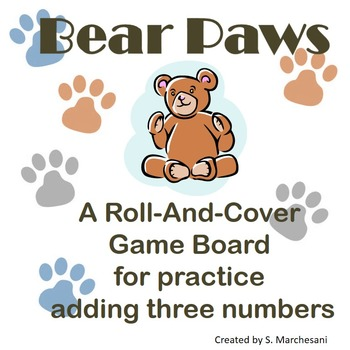 Bear Paws: Adding 3 Numbers