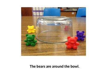 Bear Prepositions-teaches position words and sight words