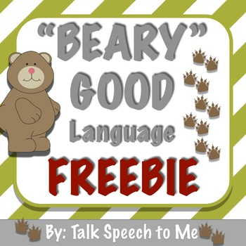 Bear Receptive and Expressive Language FREEBIE