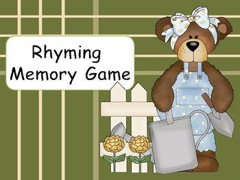 Bear Rhyming Memory Game