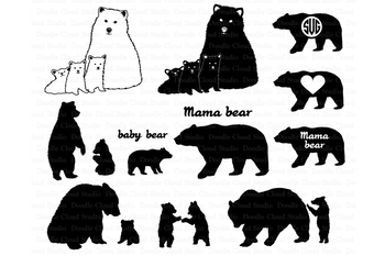bear svg bear family svg bears svg files for silhouette cameo and