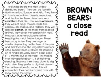 Bear Says Thanks: A FREE Mini-Unit