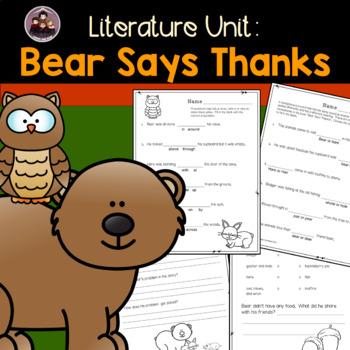 Bear Says Thanks: A Literature Unit