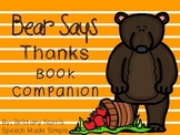 Bear Says Thanks Book Companion