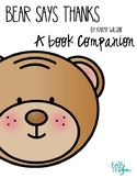 Character Education Bear Says Thanks Close Reading Activities