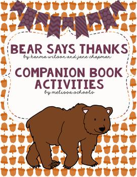 Bear Says Thanks - Companion Book Activities