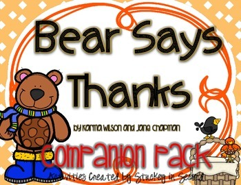 Bear Says Thanks {Companion Pack}