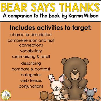Bear Says Thanks: Companion Pack