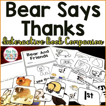Bear Says Thanks Interactive Companion Set (November Reading Center)