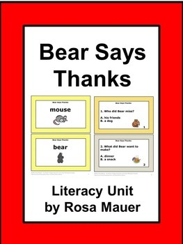 Bear Says Thanks Literacy and Math