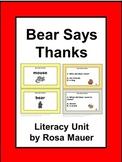 Bear Says Thanks Literacy and Math