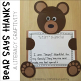 Bear Says Thanks Craftivity