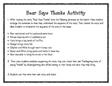 """Bear Says Thanks"" Sequencing and Creative Writing"