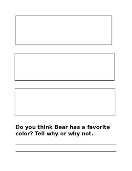 Bear Sees Colors, A Book Study