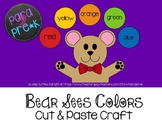 Bear Sees Colors Cut and Paste Craft Template