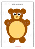 Cut and Paste NO PREP Shapes Craft - Bear Puzzle