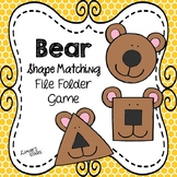 Bear Shape Matching File Folder Game