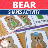 Shape Matching Activity |  Bear Shape Sorting