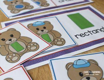Shape Matching Activity |  Bear Shape Sorting
