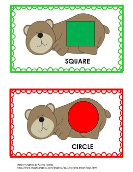 Bear Shape and Color Matching