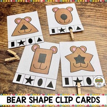Bear Shape Clip Cards